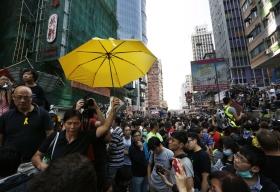 Facken spelar viktig roll i Hongkongprotesterna