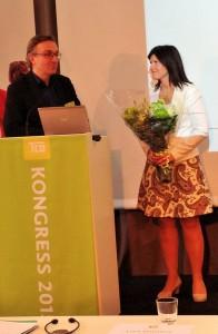 Eva Nordmark omvaldes till TCO:s ordförande på TCO-kongressen.