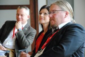 Göran Arrius, Eva Nordmark och Micke Nilsson. Foto: NFS