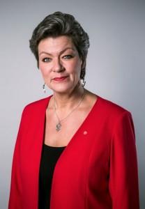 Arbetsmarknadsminister Ylva Johansson. Foto Kristian Pohl/Regeringskansliet.