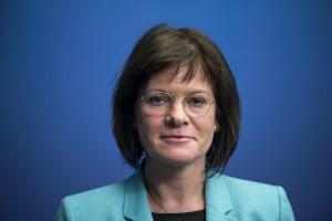 Marie Granlund (S), ordförande för utstationeringskommittén, även kallad Lex Laval-utredningen  Foto: Pontus Lundahl/TT.