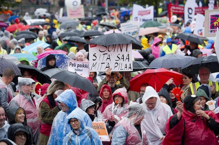 Fortsatt spänt läge för facken i Finland