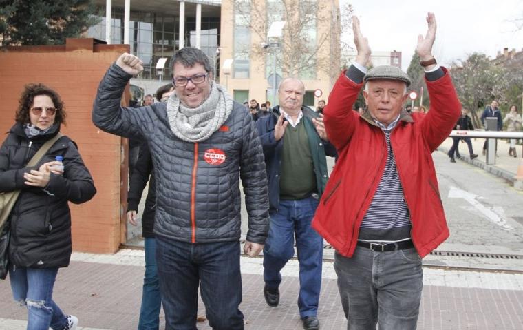 Friande dom för spanjorerna som åtalats för strejk