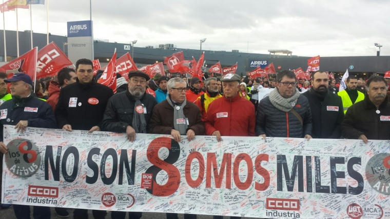 Rättegång mot spanska strejkande inledd
