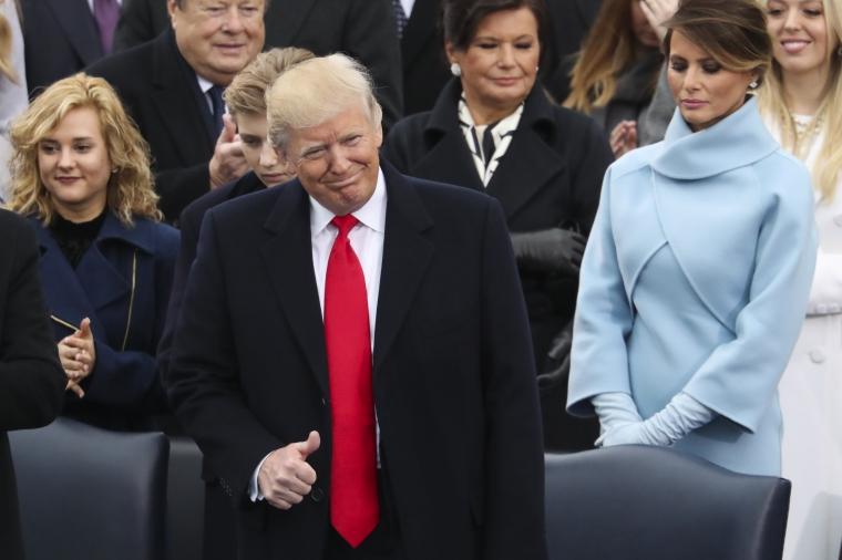 när blev trump president