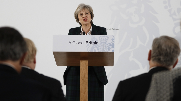 Theresa May vill lämna EU:s tullunion