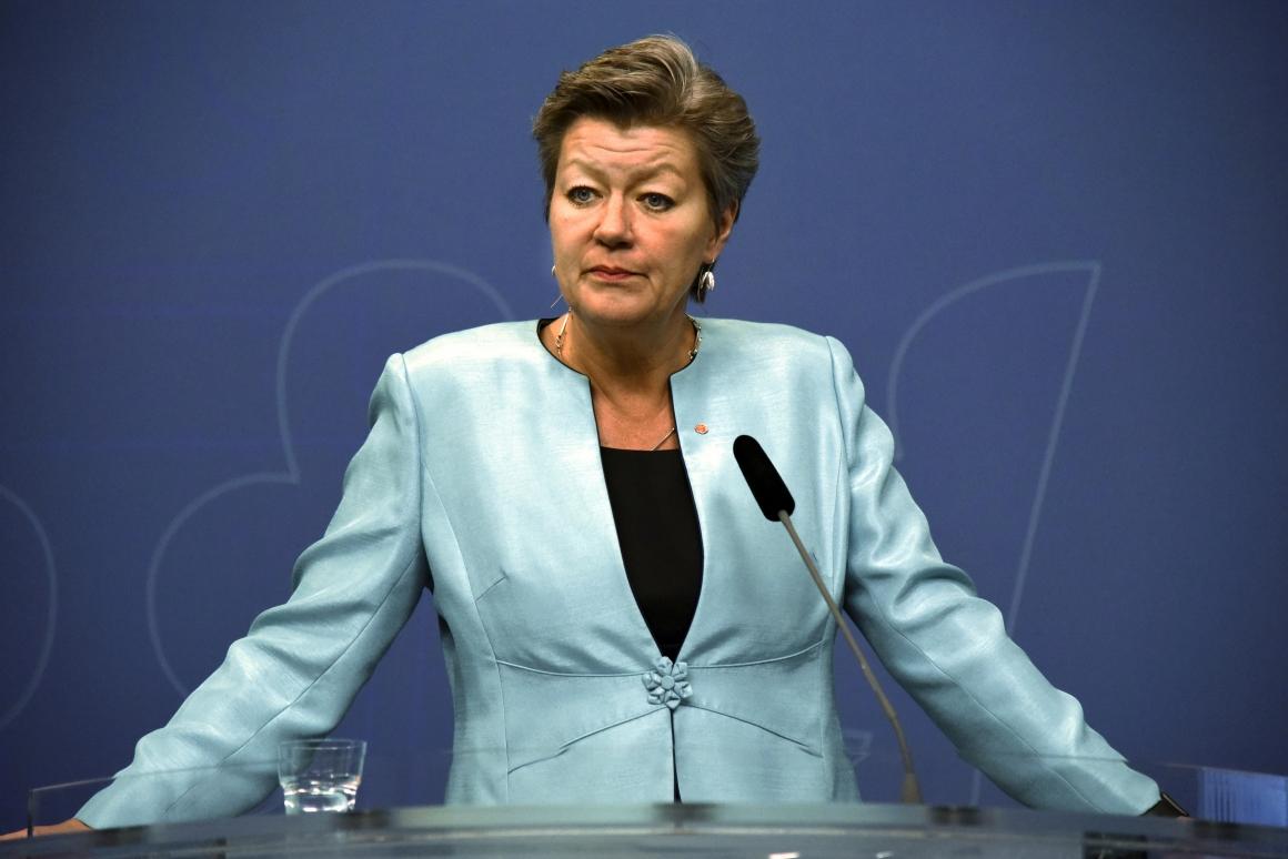 Ylva Johansson: Utvecklingen helt oacceptabel