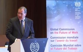 Stefan Löfven vid rodret för global ILO-kommission