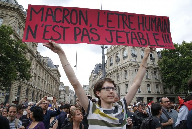 Fler demonstrationer väntas mot Macrons reformer
