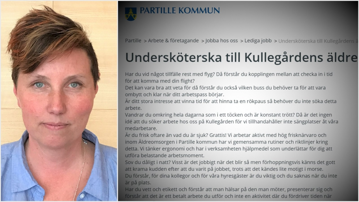 """Kommunen sökte undersköterska som inte """"vandrar i töcken"""""""