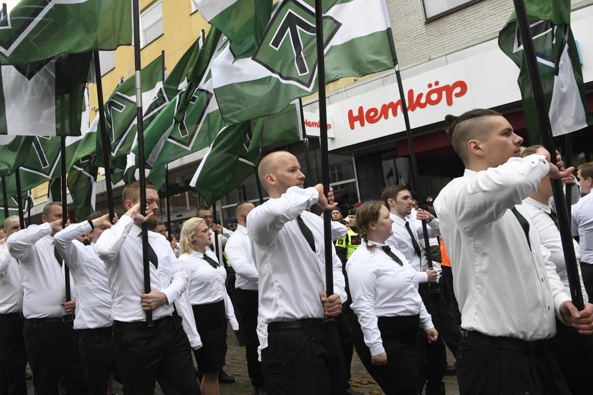 Hot från nazister – ingen anledning till särskild oro