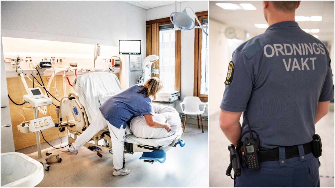 Vaktbolag assisterar vid förlossningar