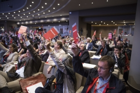 Strid om arbetstiden på Europafackets kongress