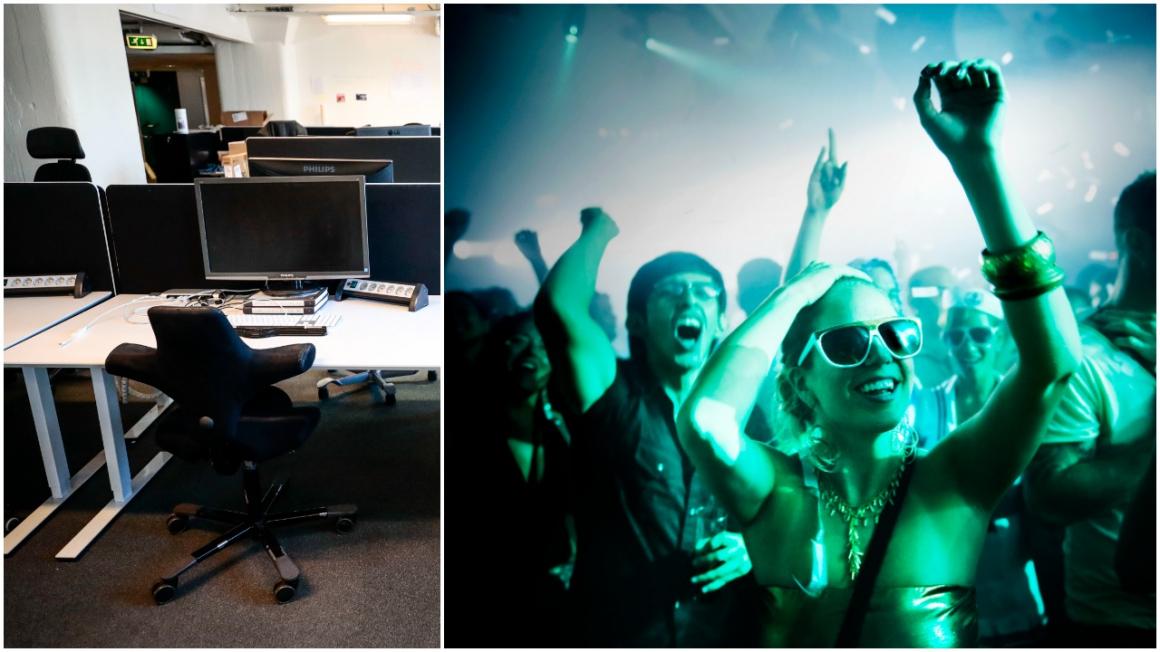 Kontoren kan bli allt mer lika nattklubbar